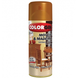 SPRAY COLORGIN VERNIZ FOSCO MOV/MAD TUBO 350ML
